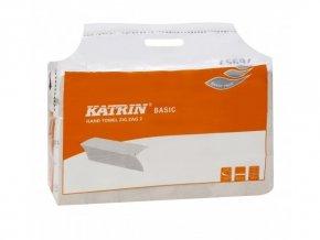 Papírové ručníky skládané KATRIN BASIC šedé - 76957 - Handy Pack