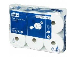 Toaletní papír SmartOne, 2vrstvý, bílý, 1 150 útržků,  6rolí/kt