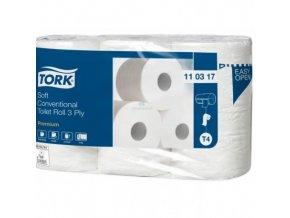 TORK jemný 3vrstvý toaletní papír konvenční role