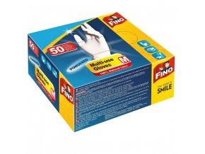 fino jednorazove rukavice pudrovane m 50 ks