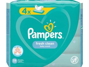 pampers freh clean 208ks