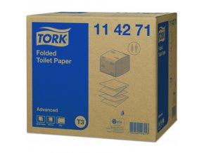 tork advanced skladany toaletni papir 2vrstvy 114271