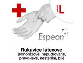 Espeon latexové rukavice  nepudrované L