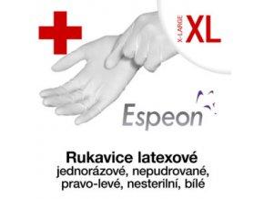 Espeon Latexové rukavice  nepudrované XL