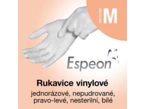 Espeon vinylové rukavice nepudrované  M