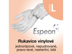 Espeon vinylové rukavice nepudrované  L
