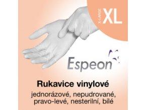 Espeon vinylové rukavice nepudrované  XL