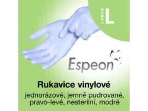 Espeon vinylové rukavice lehce pudrované modré L