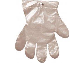 Jednorázové mikrotenové rukavice na odtrhnutí 100 ks