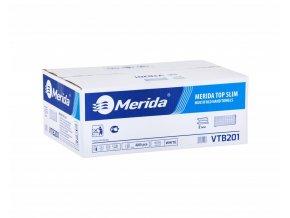 Papírové ručníky MERIDA TOP SLIM, 100% celulóza, slim, 2 - vrstvé, 4200 ks, (21 x 200 ks)