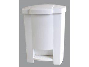 Odpadkový koš otevíraný nožním pedálem bílý 12 l