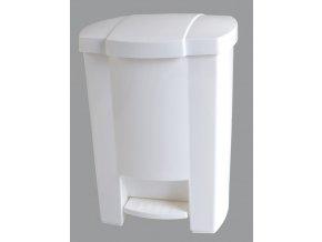 Merida Odpadkový koš otevíraný nožním pedálem bílý 7,5 l