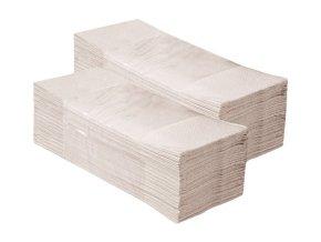 Merida Jednotlivé papírové ručníky skládané EKONOM, šedé, 5000 ks