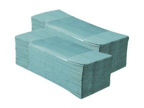 Merida Jednotlivé papírové ručníky skládané EKONOM, zelené, 5000 ks