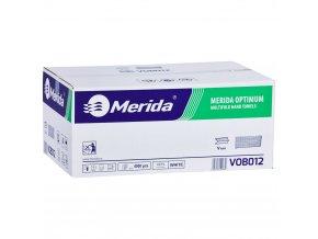 Merida Jednotlivé papírové ručníky skládané OPTIMUM, bílé,4000 ks