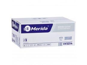 Merida Jednotlivé papírové ručníky skládané ŠEDÉ, 5000 ks / karton, /dříve PZ14/