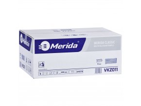 Merida Jednotlivé papírové ručníky skládané ZELENÉ, 4000 ks / karton, /dříve PZ11/