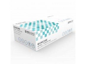 Rukavice jednorázové NITRILOVÉ Unigloves Unicare zdravotnické bez pudru 100ks velikost M