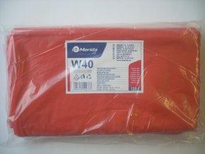 Merida Pytle na odpadky LDPE, 38 mi, 70x110cm,120 l,červené 50 ks