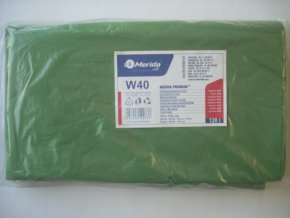 Merida Pytle na odpadky LDPE, 38 mi, 70x110cm,120 l,zelené 50 ks/b