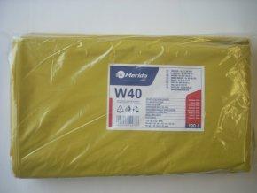 Merida Pytle na odpadky LDPE, 38 mi, 70x110cm,120 l,žluté 50 ks