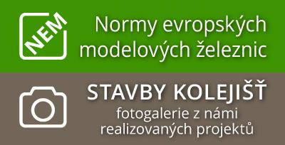 Normy evropských modelových železnic NEM | Stavby kolejišť