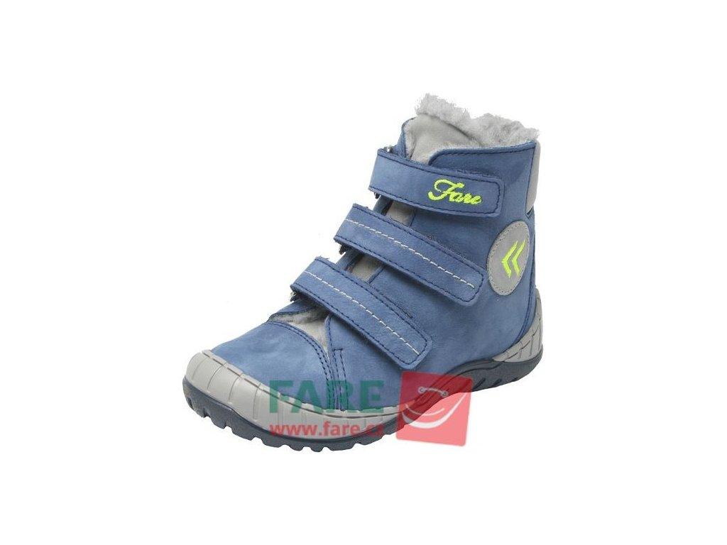 Dětské zimní kotníkové boty Fare 841102 modré