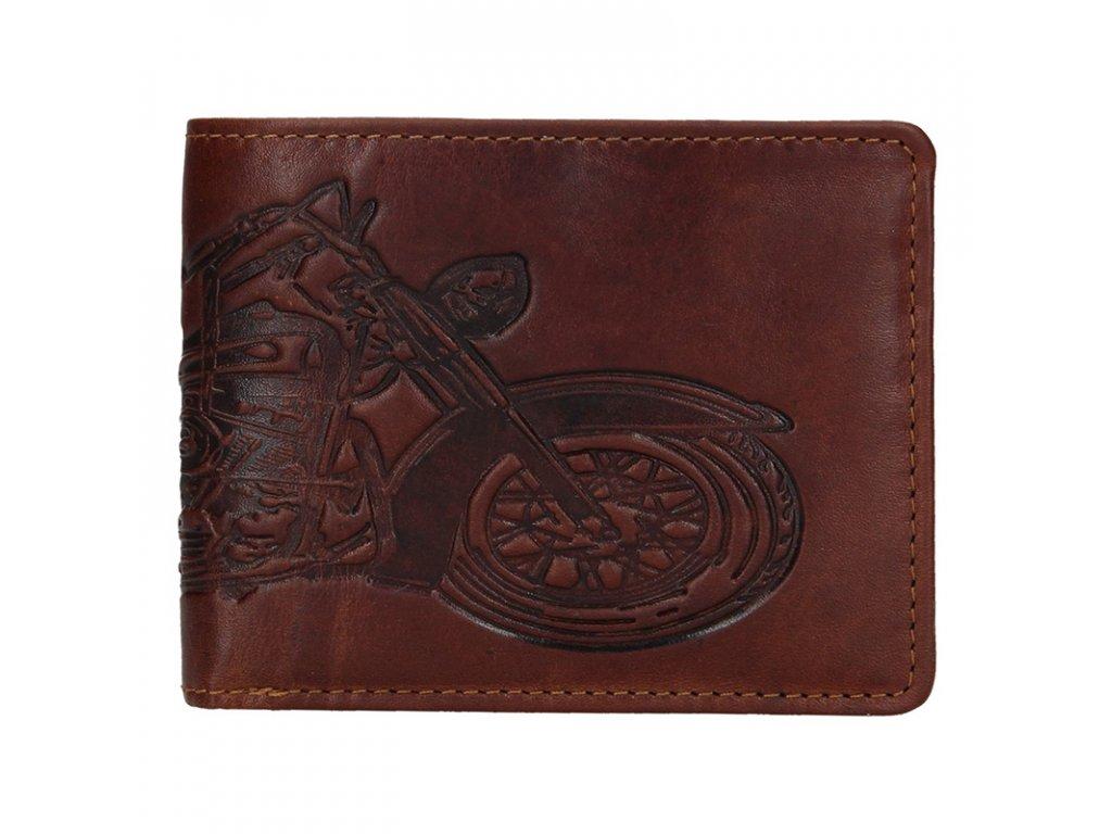 Pánská kožená peněženka Lagen 6535 hnědá