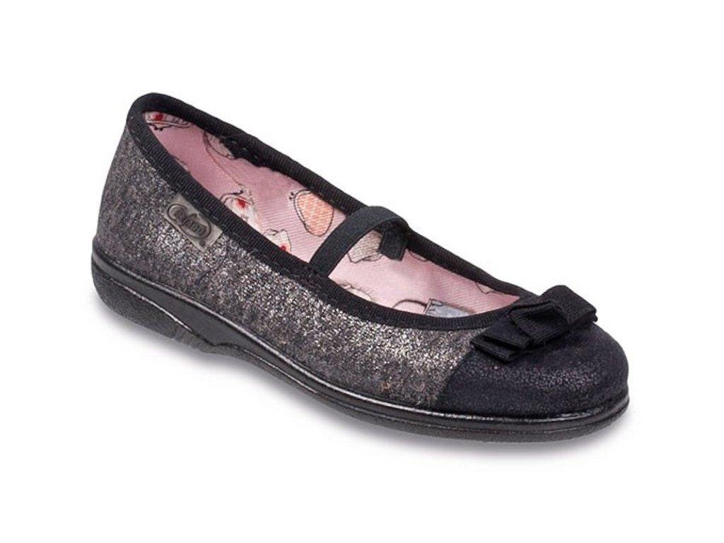 Dívčí textilní baleríny Befado 346Y009 šedé