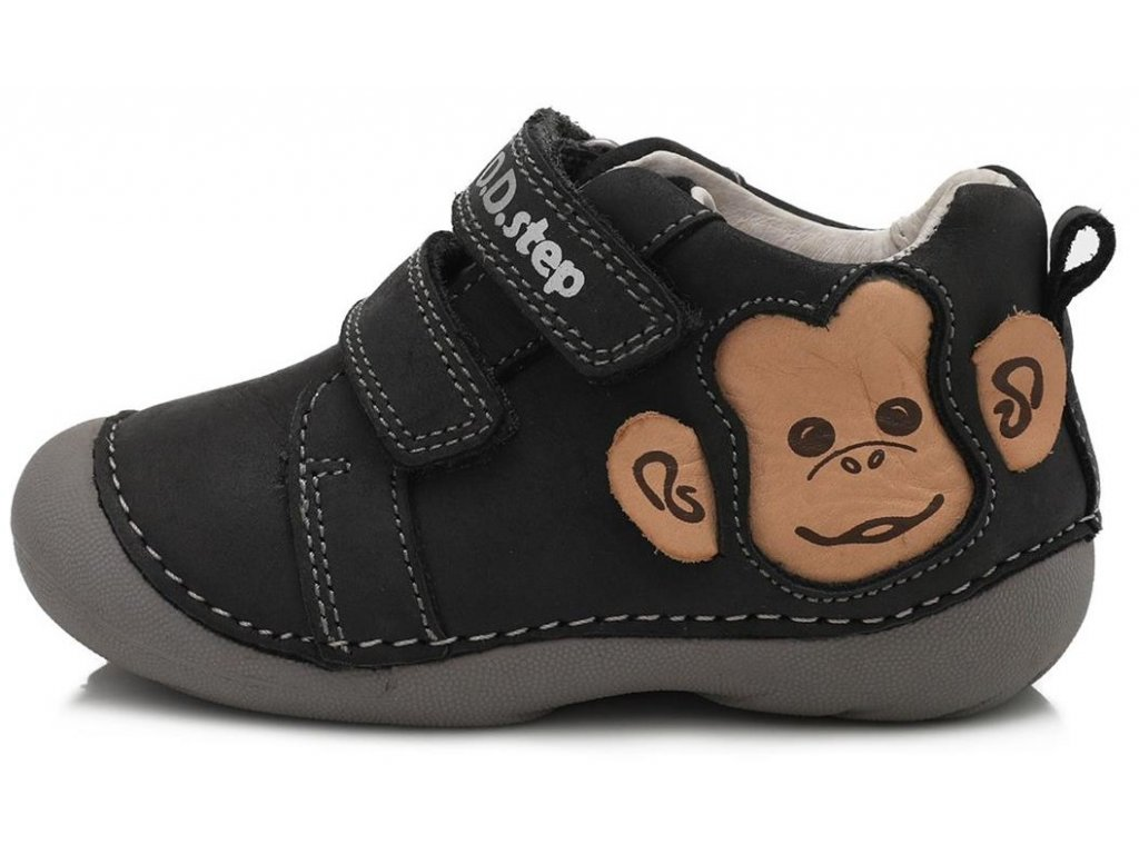 Dětské celoroční boty D.D.step 015-626 černé