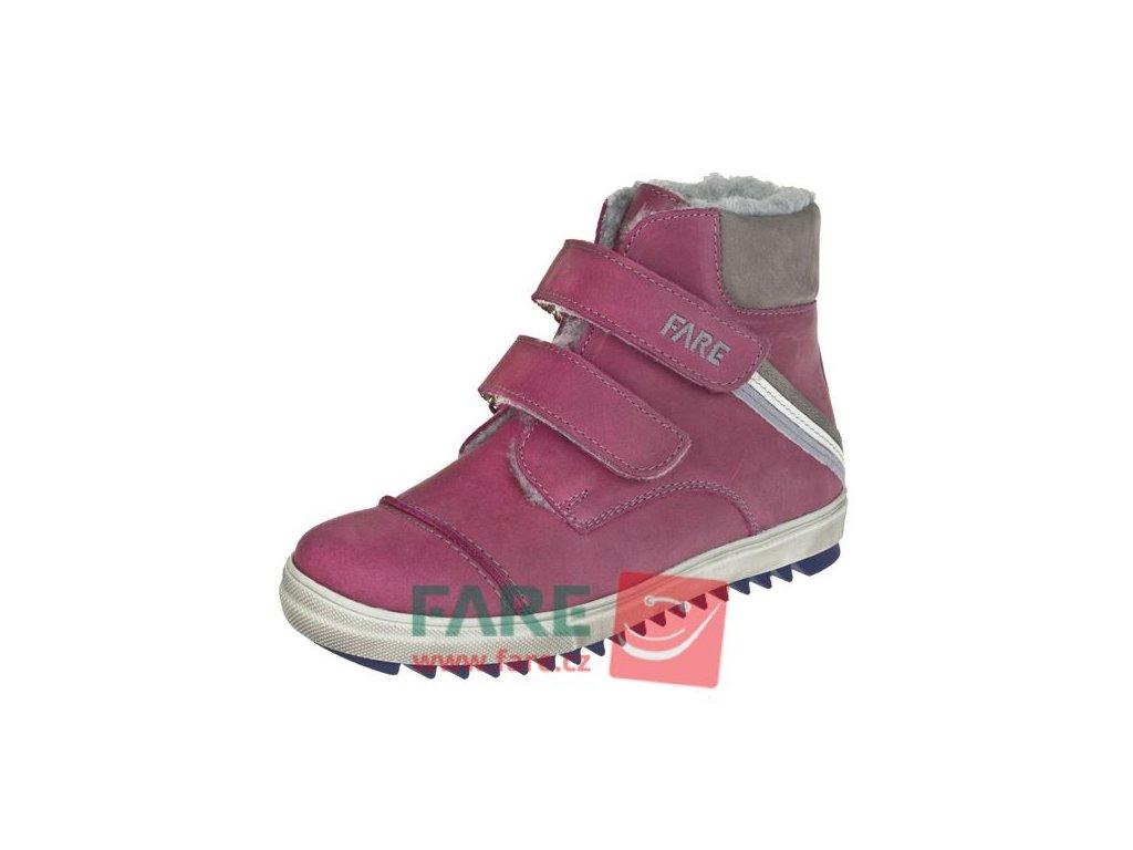 Dětské zimní kotníkové boty Fare 2645292 vínové