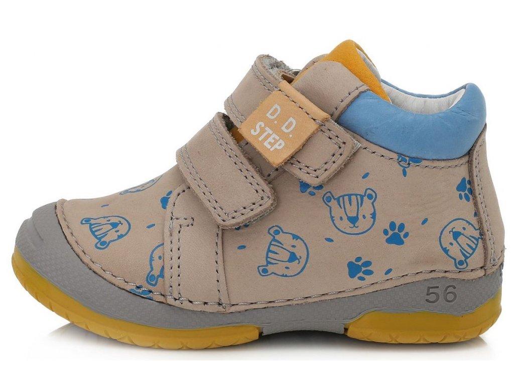 Dětské celoroční boty D.D.step 038-361B béžové