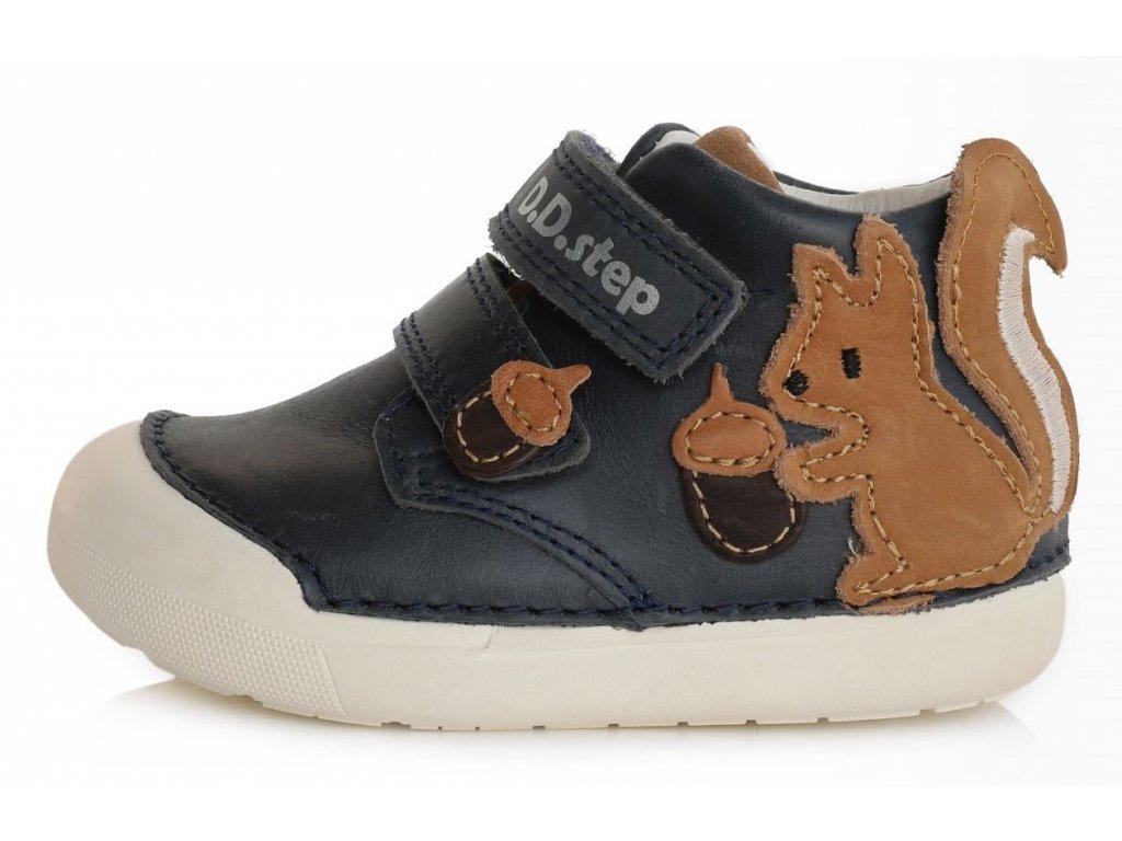 Dětské celoroční boty D.D.step 066-750 tmavě modré