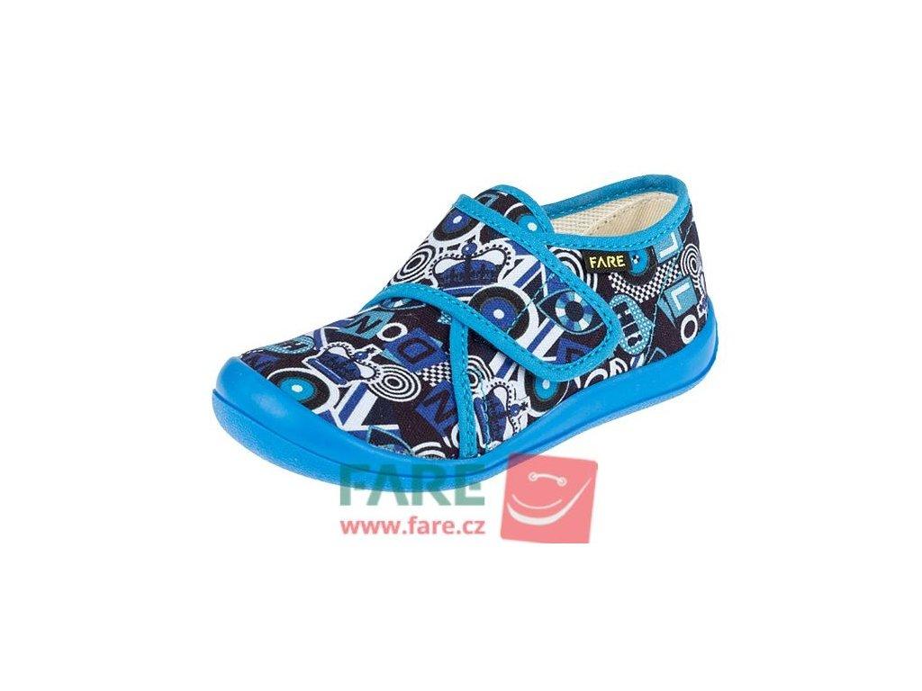 Bačkůrky Fare 4115403 modré suchý zip