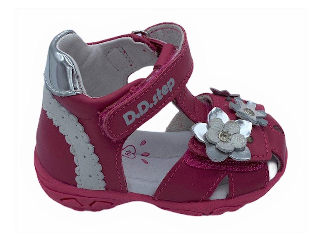Dětské letní sandálky D.D.step AC290-384 růžové blikající