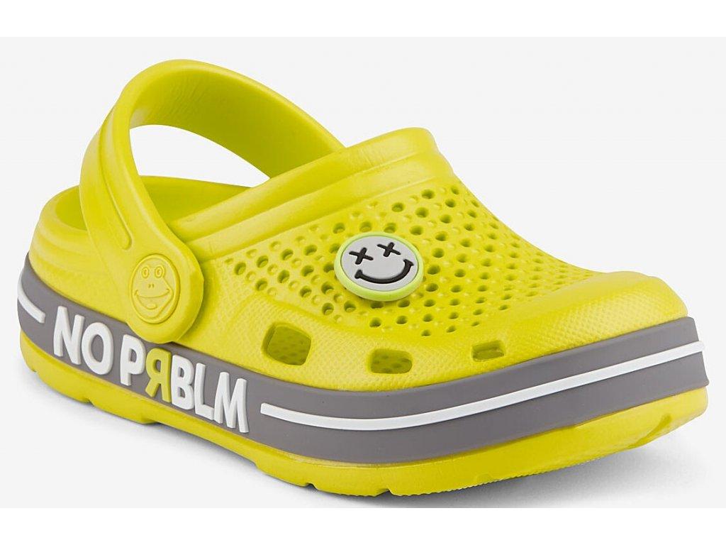 Dětské sandály crocs Coqui LINDO+amulet dětské žluté