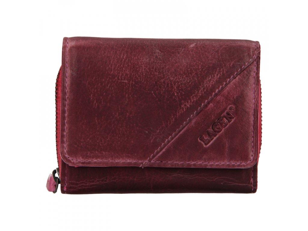 Dámská kožená peněženka Lagen 0721 fialová