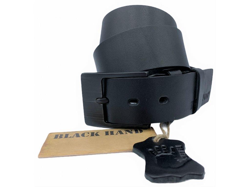 Černý kožený pásek Black Hand 004-98