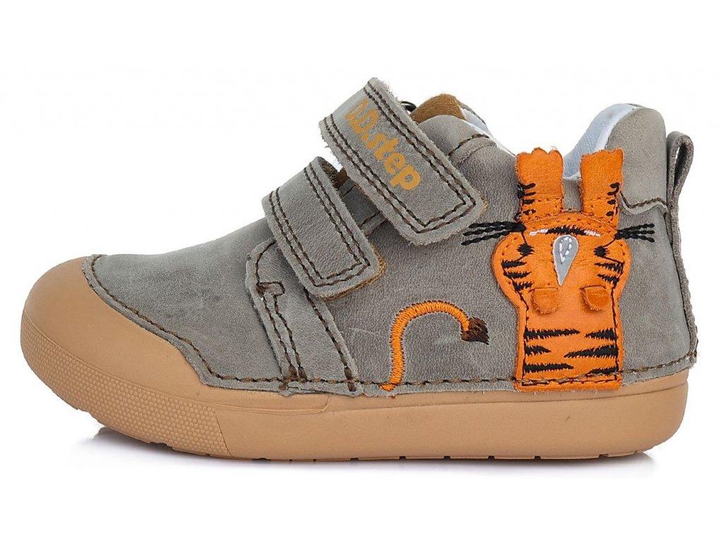 Dětské celoroční boty D.D.step 066-317B šedé