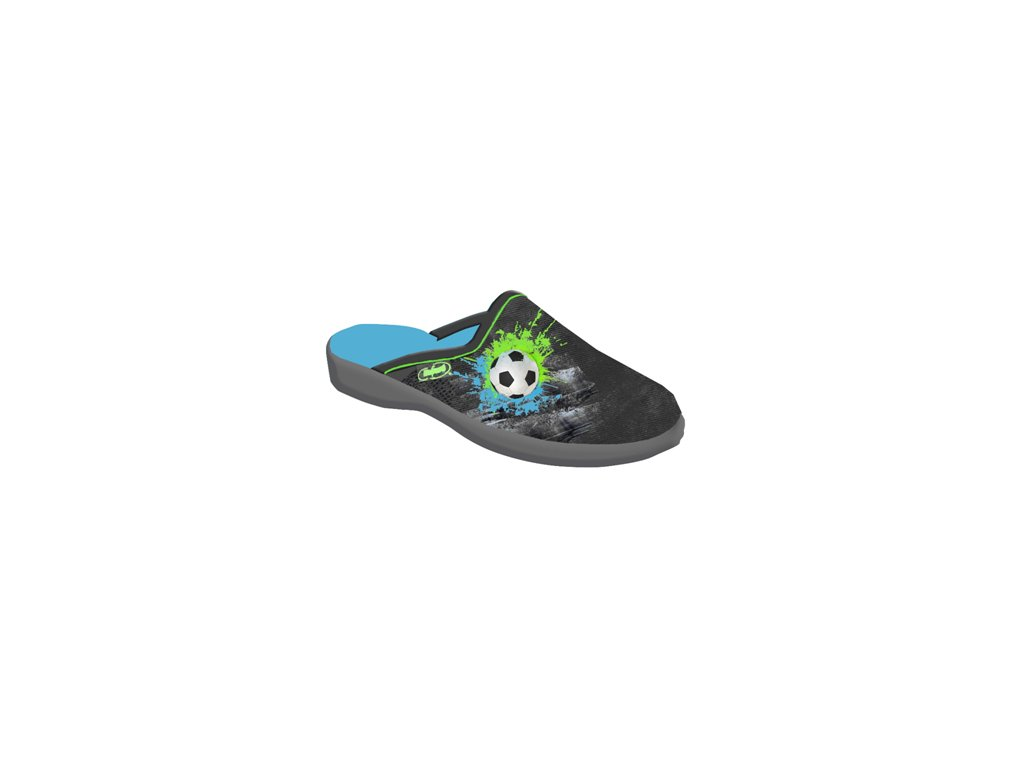Dětské textilní pantofle Befado 707y395 fotbalový míč
