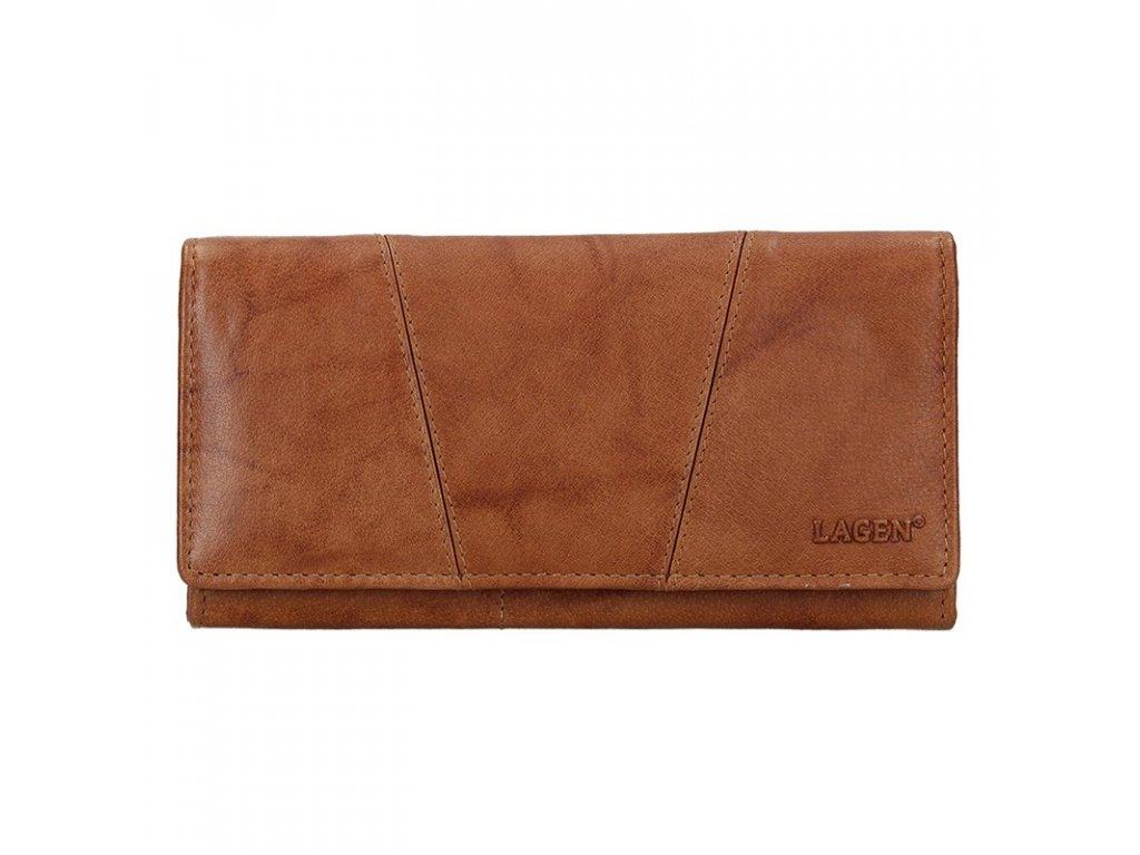 Dámská kožená peněženka Lagen PWL-388 sv.hnědá