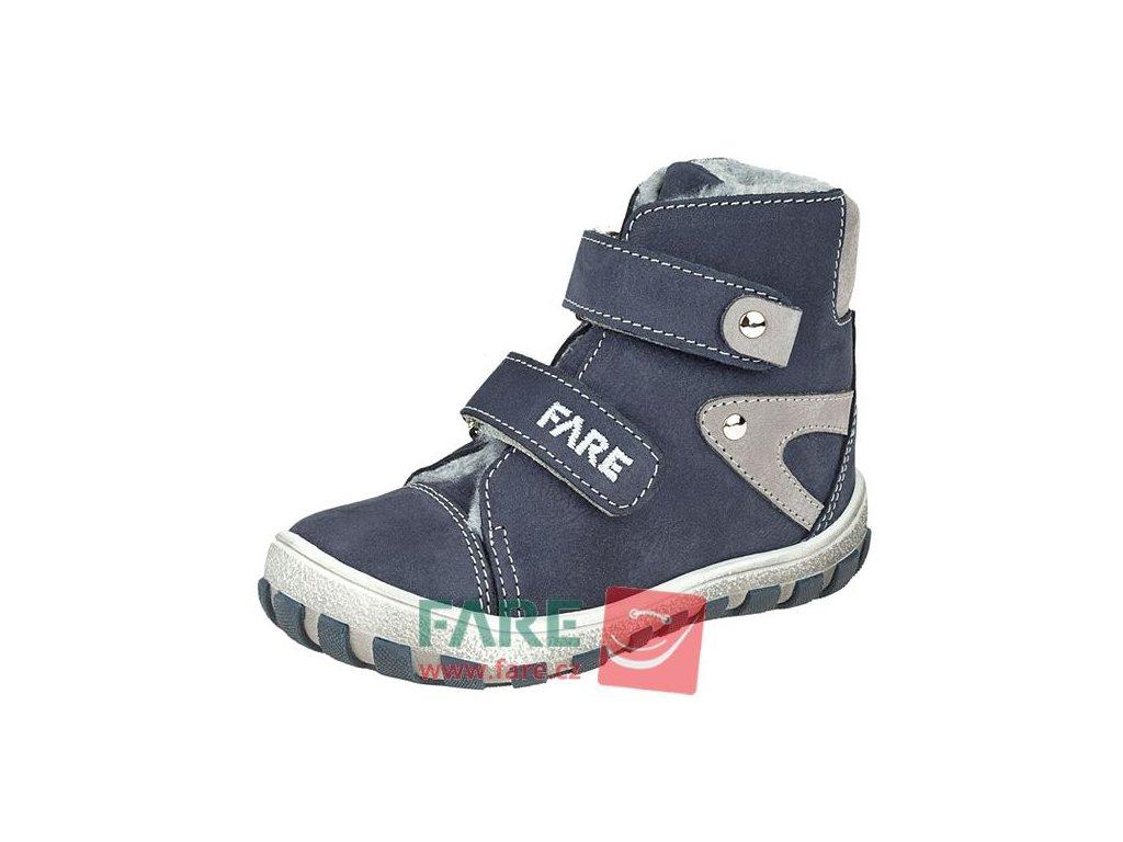 Dětské zimní kotníkové boty Fare 2149202 modré
