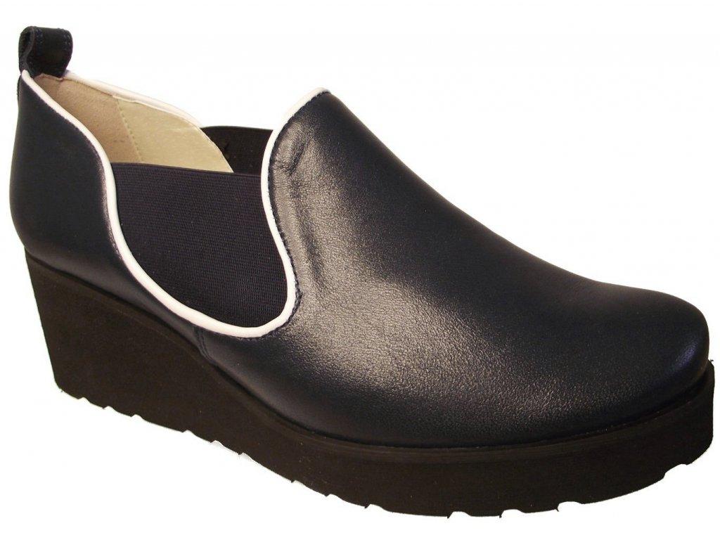 Dámské celoroční boty na platformě Kira 2563 modré