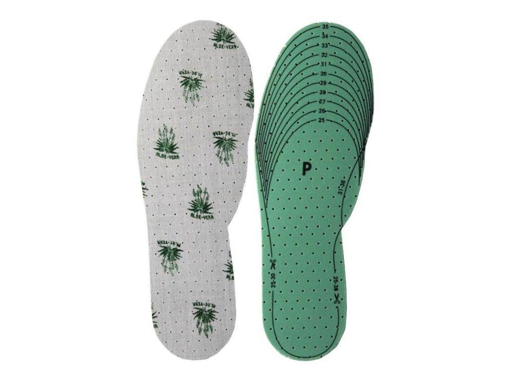Zastřihávací vložky do bot Aloe Vera UNI dětské