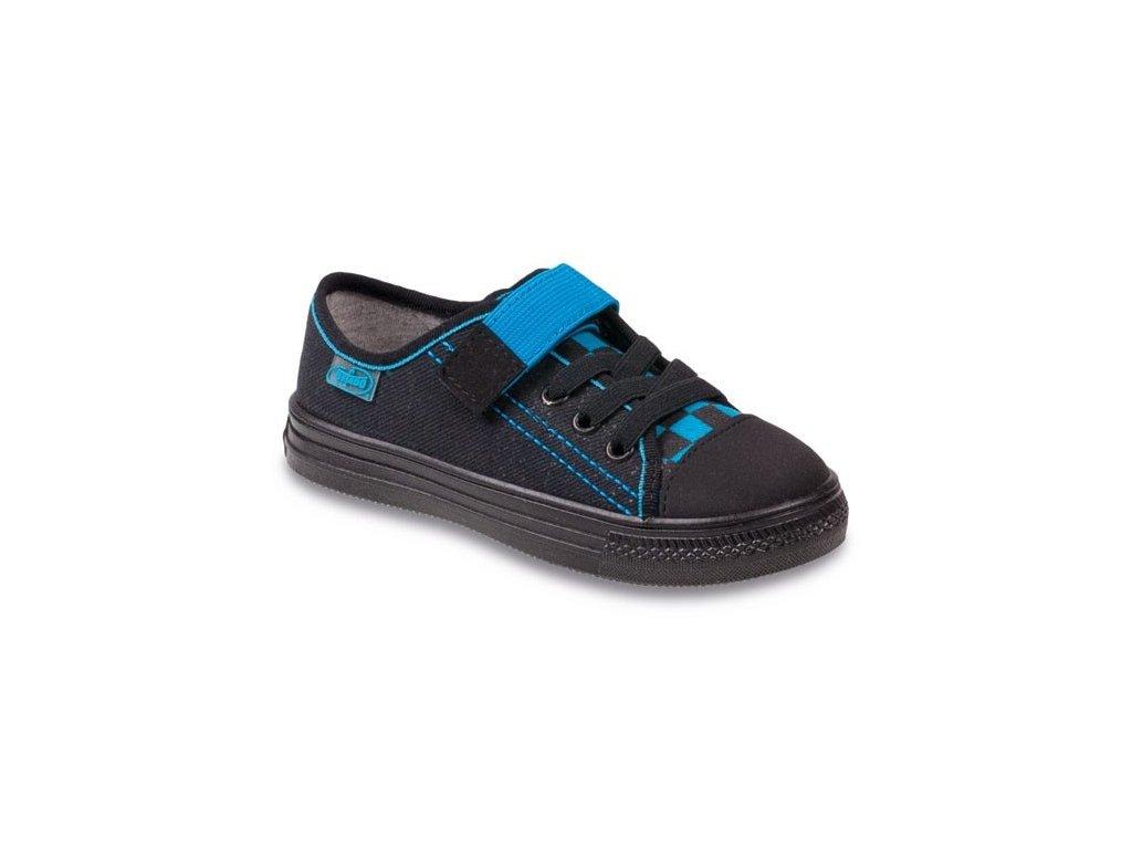 Dětské textilní tenisky Befado 429x007 černé