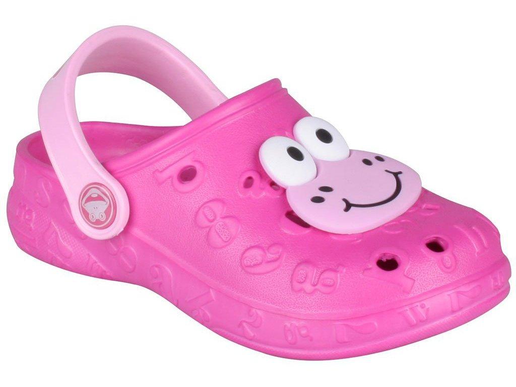 Dětské sandály Crocs Coqui Hoppa růžové