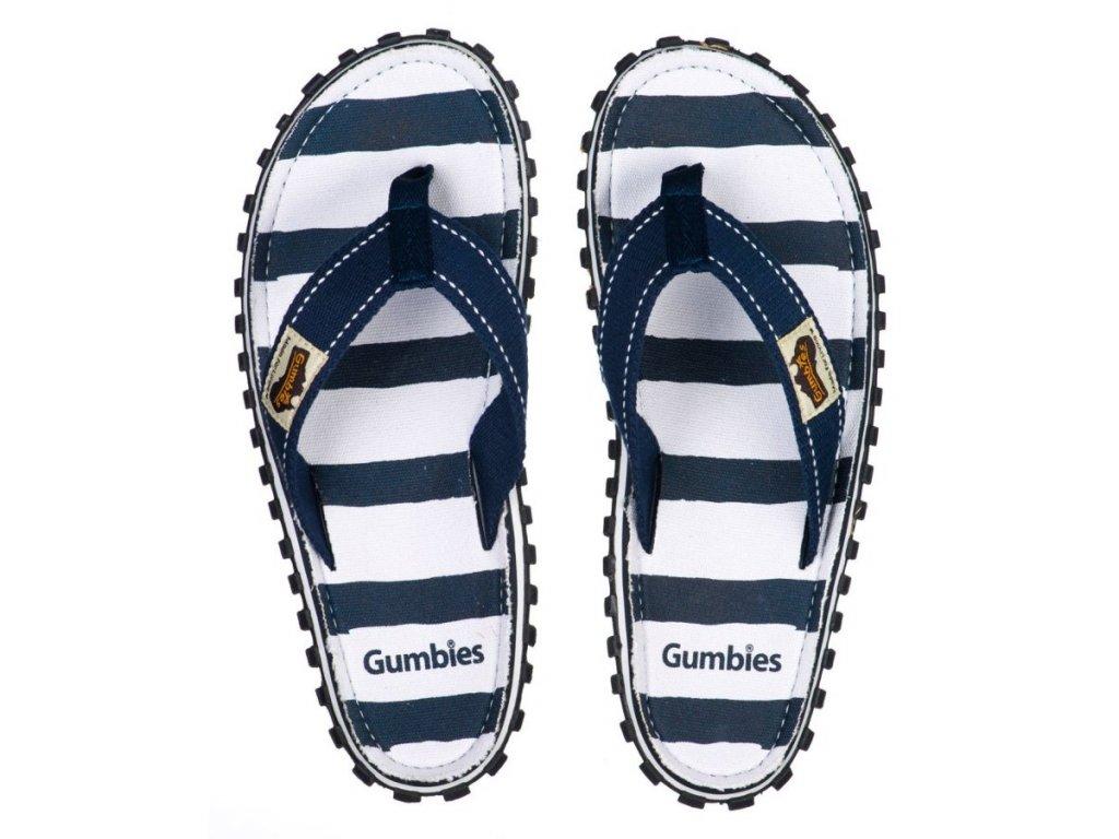 Textilní žabky Gumbies Islander modrobílé