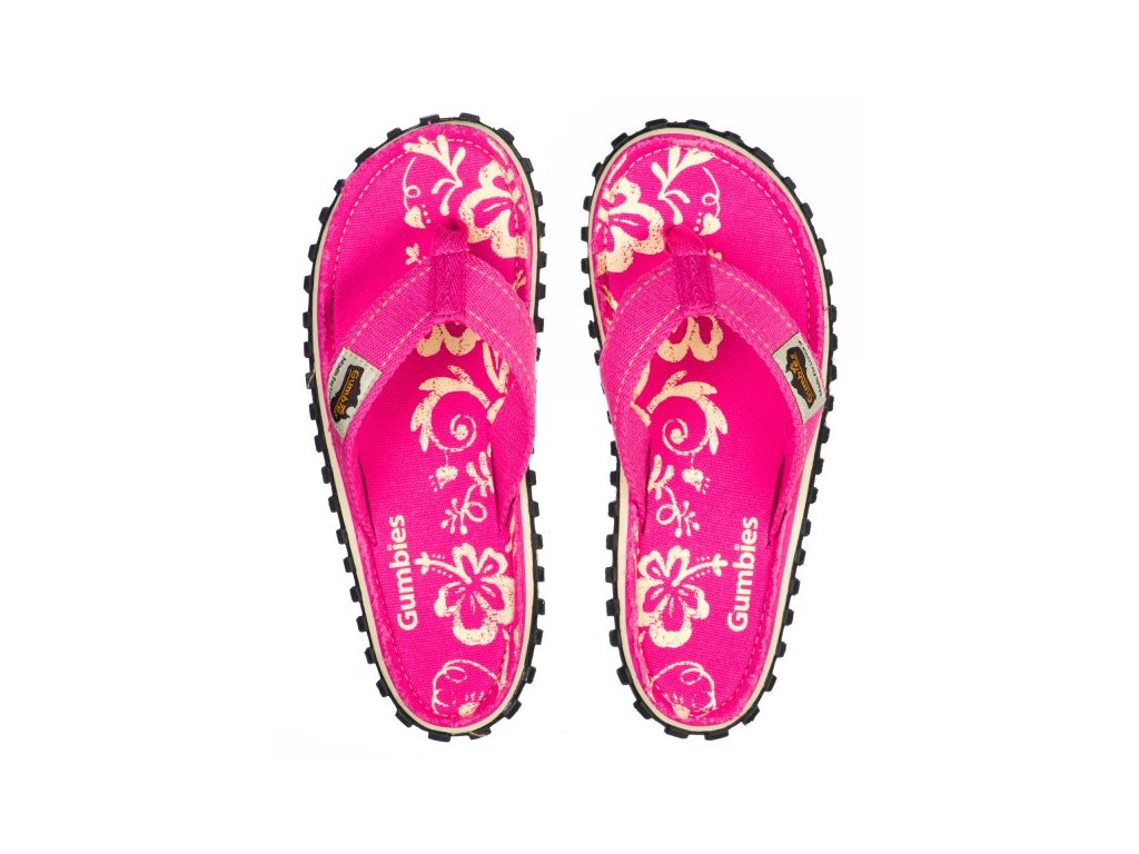 Textilní žabky Gumbies Islander růžové