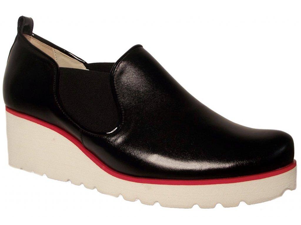 f74a605e0c Dámské celoroční boty na platformě Kira 2563 černé - VLAPA.cz