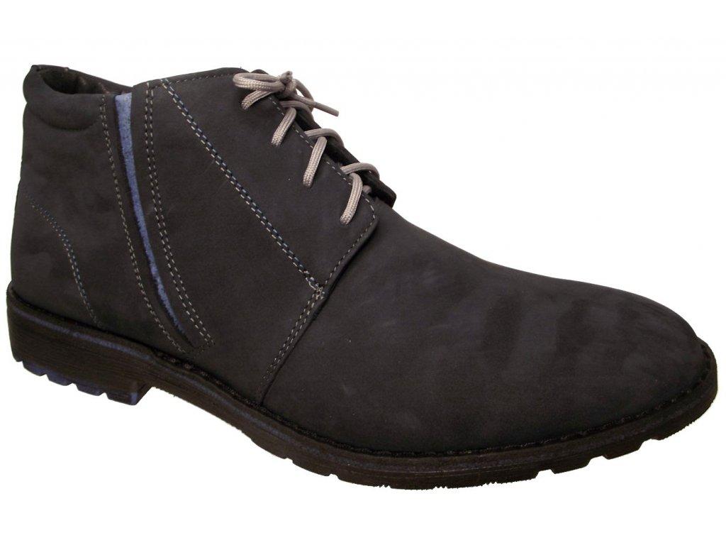 Pánská zimní kotníková obuv Kira 236 modrá
